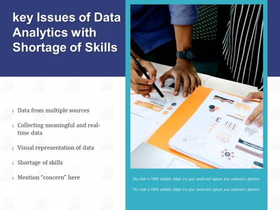 Key Issues Of Data Analytics With Shortage Of Skills Ppt PowerPoint Presentation File Inspiration PDF