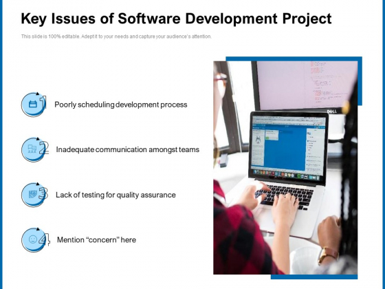 Key Issues Of Software Development Project Ppt PowerPoint Presentation Gallery Graphics Download PDF