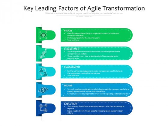 Key Leading Factors Of Agile Transformation Ppt PowerPoint Presentation File Infographic Template PDF