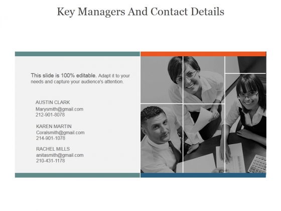 Key Managers And Contact Details Ppt PowerPoint Presentation Guide
