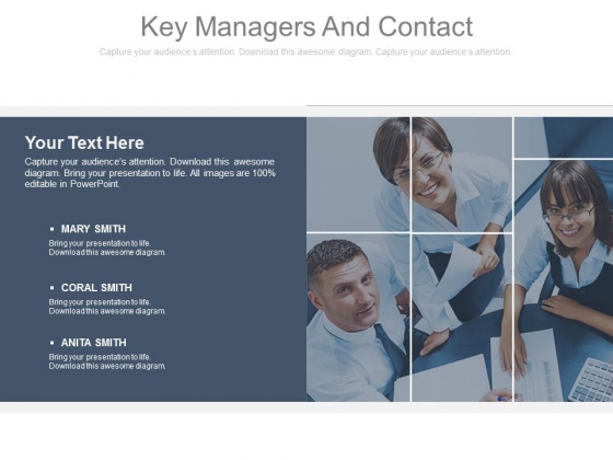 Key Managers And Contact Ppt Slides