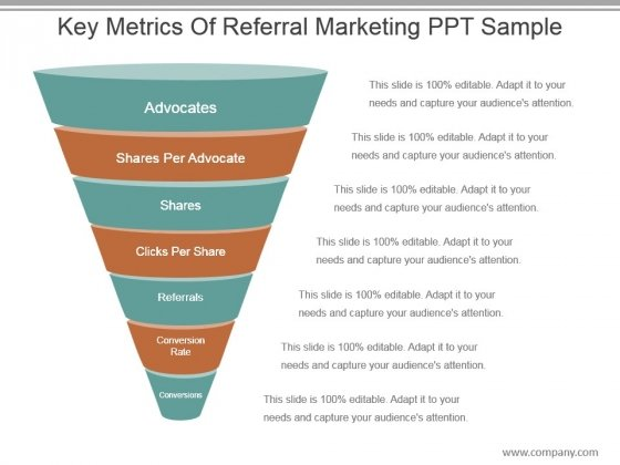 Key Metrics Of Referral Marketing Ppt Sample