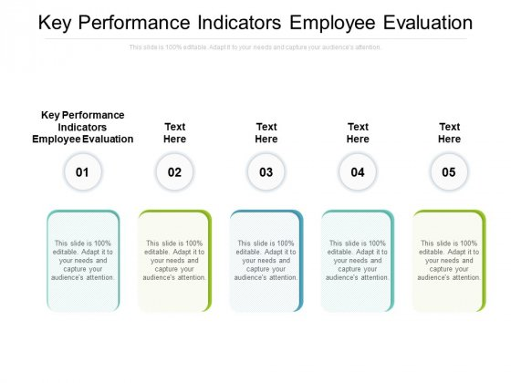 Key Performance Indicators Employee Evaluation Ppt PowerPoint Presentation Model Visual Aids Cpb