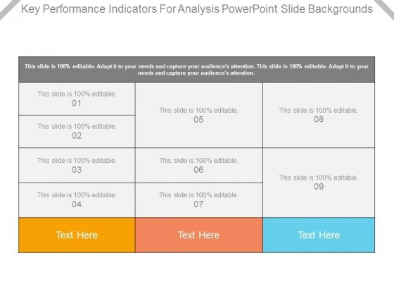 Key Performance Indicators For Analysis Powerpoint Slide Backgrounds