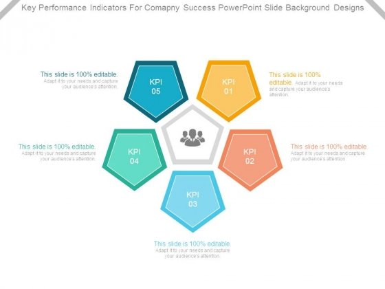 key performance indicators for company success powerpoint slide