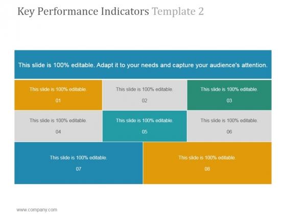 Key Performance Indicators Template 2 Ppt PowerPoint Presentation Microsoft