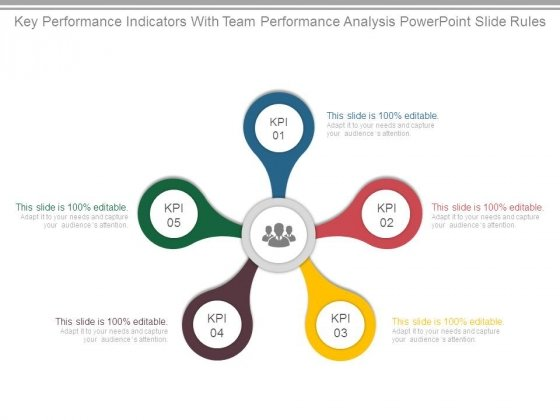 Key Performance Indicators With Team Performance Analysis Powerpoint Slide Rules