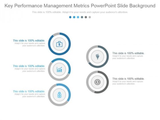 Key Performance Management Metrics Powerpoint Slide Background