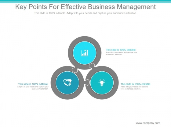 Key Points For Effective Business Management Ppt PowerPoint Presentation Clipart