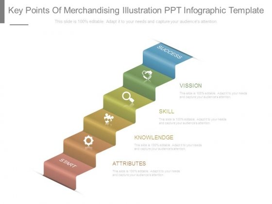 Key Points Of Merchandising Illustration Ppt Infographic Template