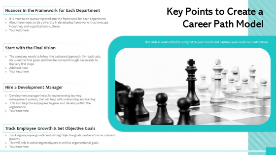 Key Points To Create A Career Path Model Ppt Powerpoint Presentation File Styles PDF