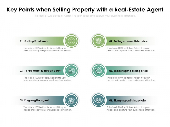 Key Points When Selling Property With A Real Estate Agent Ppt PowerPoint Presentation File Demonstration PDF