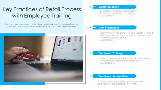 Key Practices Of Retail Process With Employee Training Ppt Infographics Background Image PDF