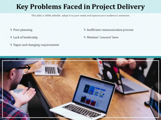 Key Problems Faced In Project Delivery Ppt PowerPoint Presentation Gallery Shapes PDF
