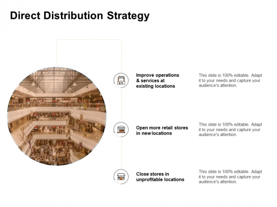 Key Product Distribution Channels Direct Distribution Strategy Ppt Infographic Template Pictures PDF