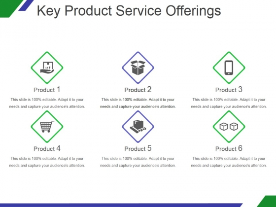 Key Product Service Offerings Template 2 Ppt PowerPoint Presentation Slide Download