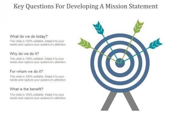 Key Questions For Developing A Mission Statement Ppt PowerPoint Presentation Files