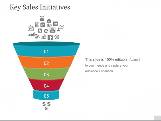 Key Sales Initiatives Template 1 Ppt PowerPoint Presentation Model Infographic Template