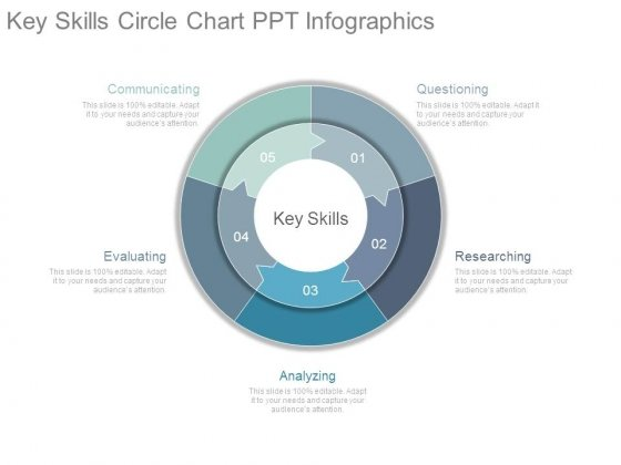 Key Skills Circle Chart Ppt Infographics