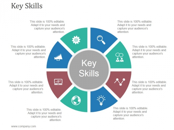 Key Skills Ppt PowerPoint Presentation Design Templates