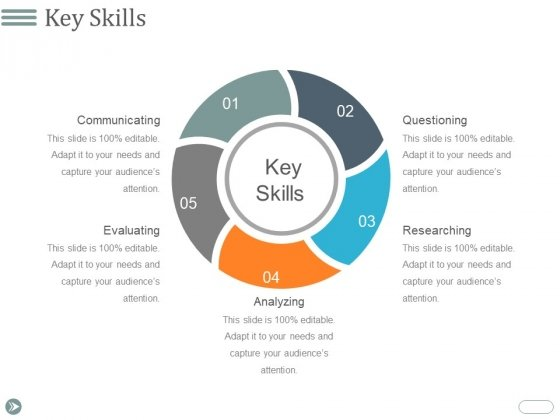 Key Skills Template 1 Ppt PowerPoint Presentation Summary Visuals