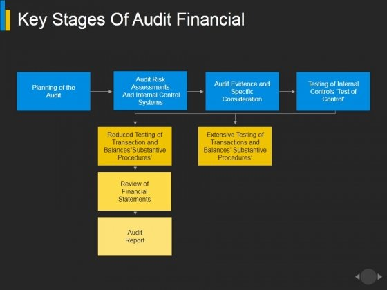 Key Stages Of Audit Financial Ppt PowerPoint Presentation Show Layouts