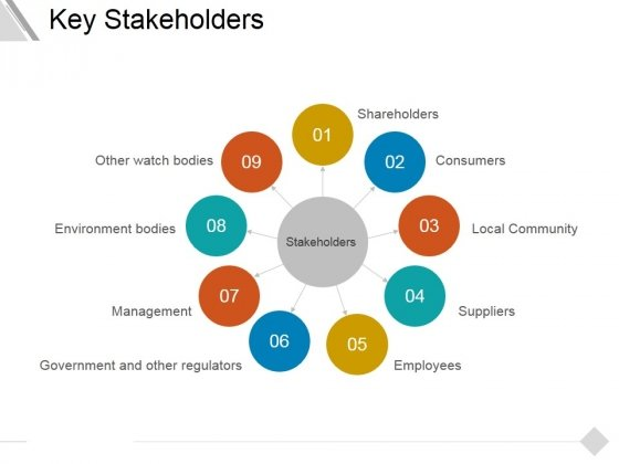 Key Stakeholders Ppt PowerPoint Presentation Gallery Visual Aids