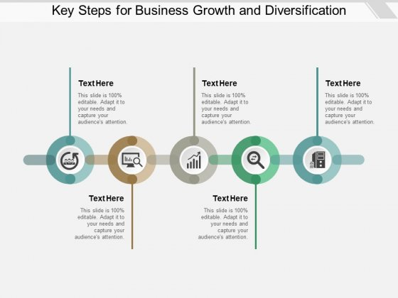 Key Steps For Business Growth And Diversification Ppt PowerPoint Presentation Summary File Formats
