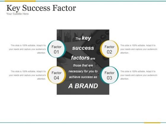 Key Success Factor Ppt PowerPoint Presentation Good
