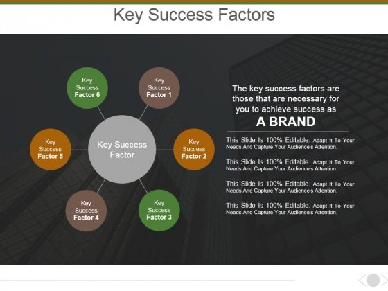 Key Success Factors Ppt PowerPoint Presentation Model Background