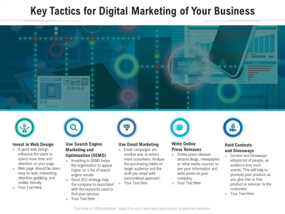 Key Tactics For Digital Marketing Of Your Business Ppt PowerPoint Presentation Gallery Pictures PDF