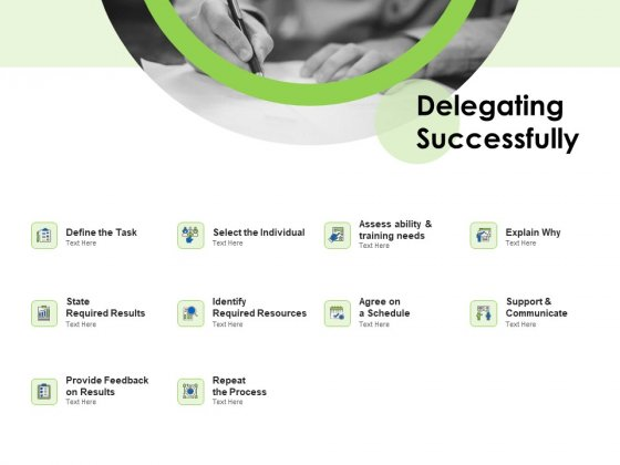 Key Team Members Delegating Successfully Ppt Show Brochure PDF