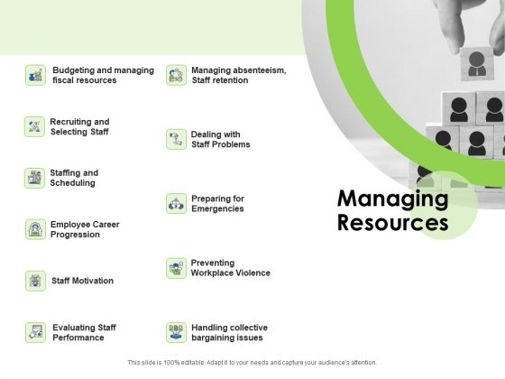 Key Team Members Managing Resources Ppt Background Images PDF