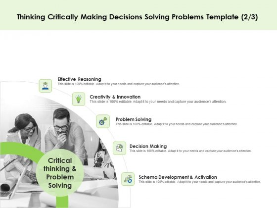 Key Team Members Thinking Critically Making Decisions Solving Problems Ppt Summary Graphics PDF