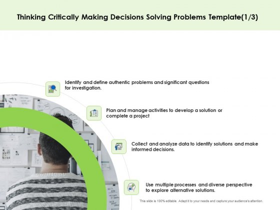 Key Team Members Thinking Critically Making Decisions Solving Problems Project Ppt Gallery Slide Download PDF