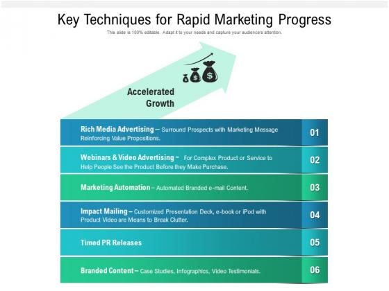 Key_Techniques_For_Rapid_Marketing_Progress_Ppt_PowerPoint_Presentation_File_Elements_PDF_Slide_1