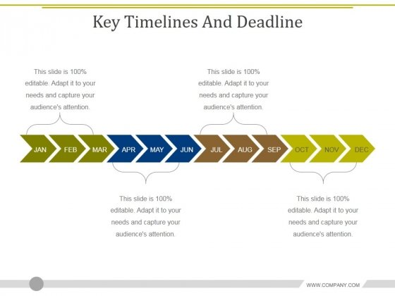 Key Timelines And Deadline Ppt PowerPoint Presentation Gallery Clipart Images