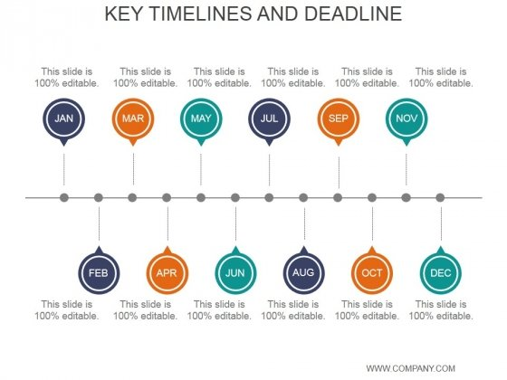 Key Timelines And Deadline Ppt PowerPoint Presentation Rules