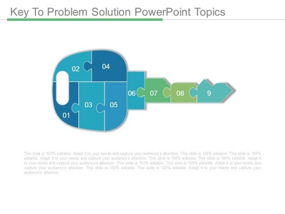 Key To Problem Solution Powerpoint Topics