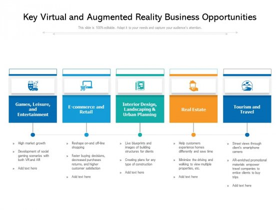 Key Virtual And Augmented Reality Business Opportunities Ppt PowerPoint Presentation Professional Skills PDF