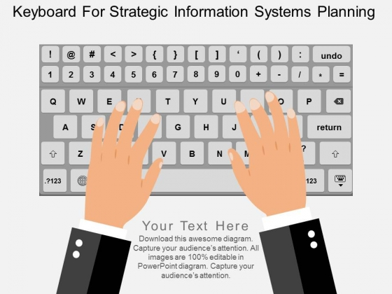 Keyboard For Strategic Information Systems Planning Powerpoint Template
