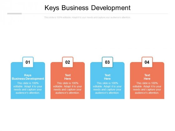 Keys Business Development Ppt PowerPoint Presentation Layouts Visual Aids Cpb