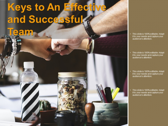 Keys To An Effective And Successful Team Ppt PowerPoint Presentation File Outfit