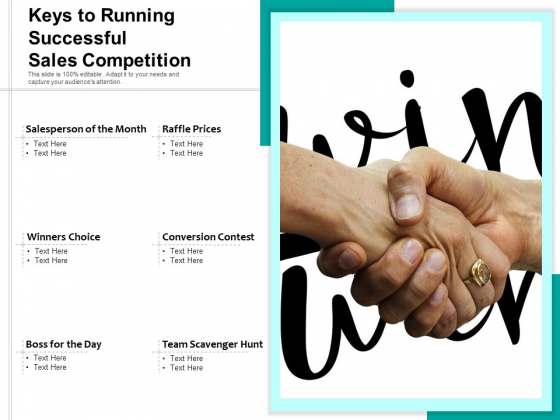 Keys To Running Successful Sales Competition Ppt PowerPoint Presentation Model Templates PDF