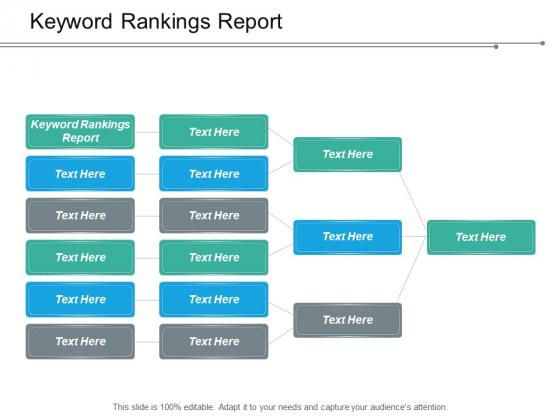 Keyword Rankings Report Ppt PowerPoint Presentation Slides Design Ideas Cpb