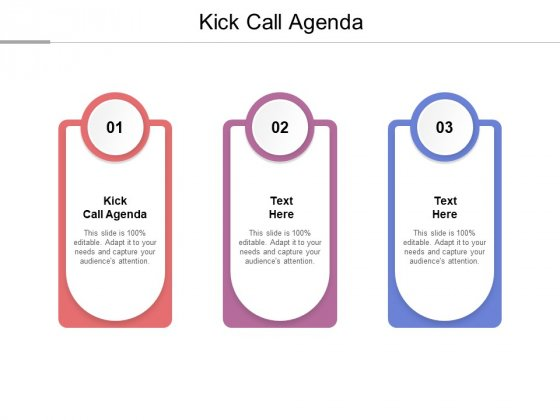 Kick Call Agenda Ppt PowerPoint Presentation Layouts Objects Cpb Pdf