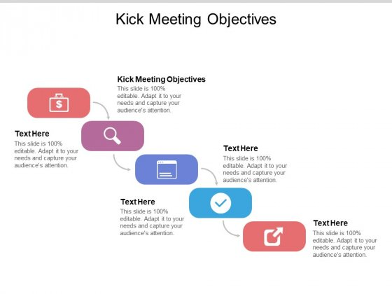 Kick Meeting Objectives Ppt PowerPoint Presentation Ideas Structure Cpb Pdf