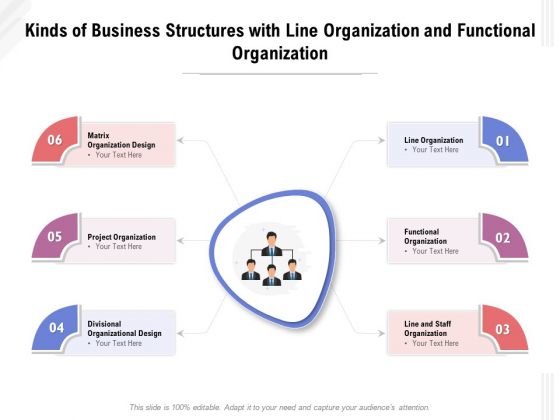 Kinds_Of_Business_Structures_With_Line_Organization_And_Functional_Organization_Ppt_PowerPoint_Presentation_Show_Graphics_PDF_Slide_1
