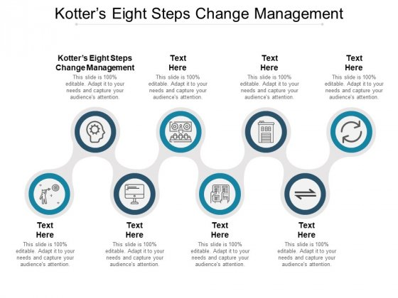 Kotters Eight Steps Change Management Ppt PowerPoint Presentation Infographic Template Infographic Template Cpb