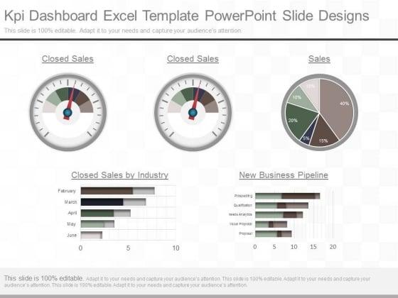 Kpi Dashboard Excel Template Powerpoint Slide Designs Powerpoint